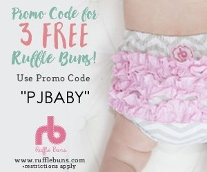 3 Free Rufflebuns with code PJBABY
